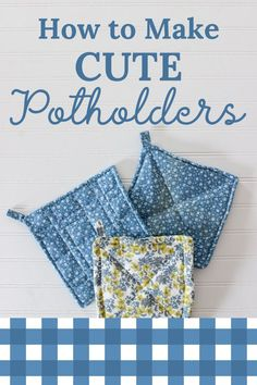 Have you been looking for a simple and easy sewing tutorial for beginners that's totally cute? Look no further! Click through to learn how to make potholders in this simple sewing tutorial. Sewing Lessons, Sewing Class, Sewing Hacks, Sewing Tutorials, Small Sewing Projects, Sewing Projects For Beginners, Potholder Patterns, Sewing Patterns, Crochet Patterns