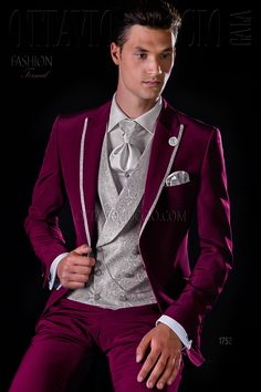 Burgundy and pearl gray groom suit  wedding  tuxedo  luxury  menswear   menstyle ab6825a8171