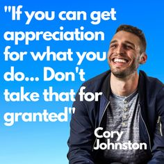 It's important not to take appreciation for granted. As an entrepreneur, you don't have a boss or anyone whose job it is to appreciate what you do. Don't take appreciation, no matter who it comes from for granted. #appreciation #grateful #thanks #gratitude #gratefulness #entrepreneurship #pride #satisfaction #employeesatisfaction #appreciate #donthate #nohate #coryjohnston #brighteous #siliconalley #siliconalleypodcast #sap #entrepreneur Personal Finance App, Real Estate Video, Insightful Quotes, 3 Am, Financial Goals, Entrepreneurship, Gratitude, Grateful, Affirmations