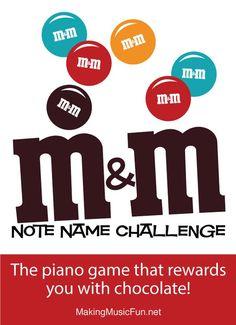 M&M Note Name Challenge Music Theory Worksheet - Note Names Music Flashcards, Flashcards For Kids, Worksheets For Kids, Piano Lessons For Kids, Music Lessons, Kindergarten Homeschool Curriculum, Piano Games, Music Theory Worksheets, Teacher Boards