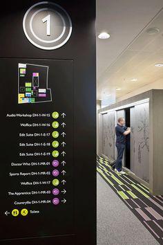 :: BBC North Offices, MediaCityUK | Wayfinding + Signage ::