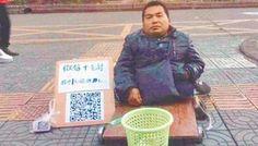 Bukan Main, Pengemis Tiongkok Gunakan Kode QR Untuk Meminta Sumbangan