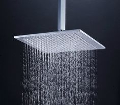 Contemporary Showers 24 inch stainless steel rain shower head with color changing led