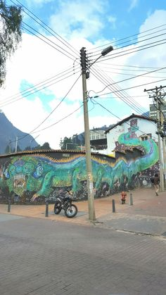 Amazing Street Art in La Candelaria, the famous Old Town of Bogotá, Colombia. Find more Graffiti like this with the Booee App!