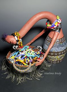 Marlene Brady: Gourd Sculpture Display