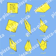 Japanese crane origami world peace vector EPS10