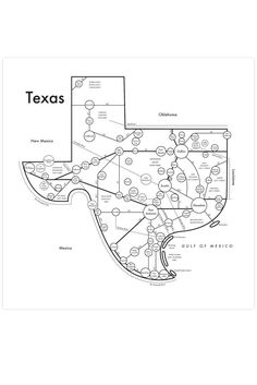 "A map of the Lone Star State, complete with every long stretch of highway and oasis-like town. Time to fire up the truck.Dimensions: Measures 8"" x 8"".Details: Letterpress.Archie Archambault is a designer and inventor living between Portland, Oregon and Brooklyn, New York. He started making maps s..."