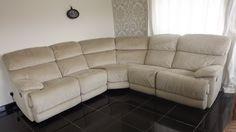 Designer Natural fabric 5 piece corner sofa (25) £799
