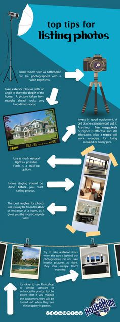 Top Eight Tips for Listing Photos #Infographics