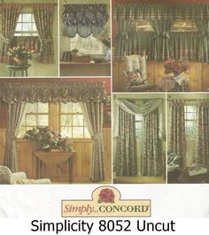 Simplicity Pattern 8052 Simply Concord Curtains And Valances