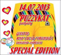 Puzzykat Poolparty 'Special Edition' at Sporting Club *Parco de Medici - Roma It.