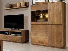 Luxusný nábytok - komoda do obývačky dub pálený