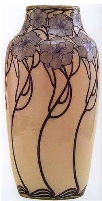 Vase by Galileo Chini, the famous Italian artist credited with introducing Art Nouveau or the Liberty style into Italy Design Art Nouveau, Motif Art Deco, Vases Decor, Art Decor, Decoration, Glass Ceramic, Ceramic Art, Galle Vase, Pottery Vase