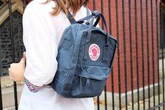 Fjallraven Kanken Mini Backpack in Uncle Blue as a diaper bag