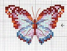 butterflies cross stitch patterns free download - Google Search Butterfly Cross Stitch, Cross Stitch Love, Beaded Cross Stitch, Cross Stitch Animals, Cross Stitch Flowers, Cross Stitch Charts, Cross Stitch Embroidery, Butterfly Pattern, Butterfly Embroidery