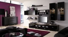 http://www.justsoakit.com/wp-content/uploads/2015/02/ordinary-blck-gloss-cabinet-furniture-set-beside-tv-in-living-room-as-well-purple-fur-rug-on-wooden-floor-also-dark-gray-fabric-sofa-870x485.jpg