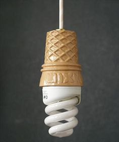 Kawaii and cool products Ice Cream Lamp. Cool Ideas, Cream Lamps, Lampe Art Deco, Deco Design, Cup Design, Cool Stuff, My Room, Home Remodeling, Just In Case