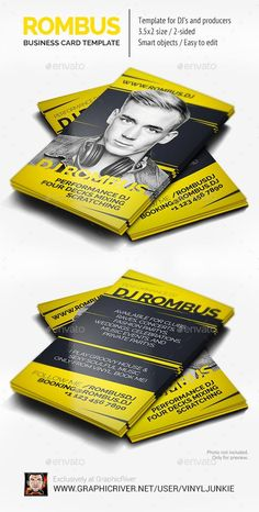Dj business card dj business cards business cards and dj reheart Images