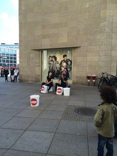 Bucket drummers Berlin, Germany