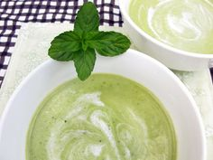 Minty White Bean & Pea Soup | Honest Fare I'm going to try it w coconut milk.