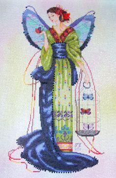 Вышивки крестом от Nora Corbett.( Часть1) Мифические ДАМЫ