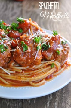 Spaghetti and Meatballs www.houseofyumm.com