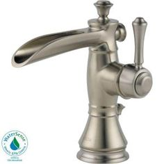Cassidy Single Hole 1-Handle High-Arc Channel Spout Bathroom Faucet in Chrome-598LF-MPU at The Home Depot