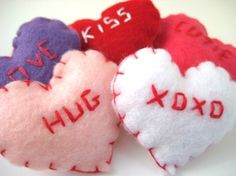 felt hearts by lauratrevey, via Flickr