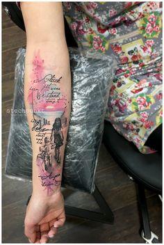 Watercolor Kids Family Sunset Beach Sea - Tattoo by Stechpun.- Watercolor Kids Family Sunset Beach Sea – Tattoo by Stechpunkt - Mommy Tattoos, Tattoos For Guys, Tattoos For Women, Sea Tattoo, Tattoo You, Small Tattoos, Cool Tattoos, Maori Tattoos, Tattoos Lindas