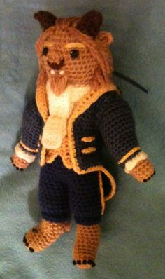 Beauty's Beast - amigurumi (great when you can only find the Belle Barbie doll in the store...  ;) )