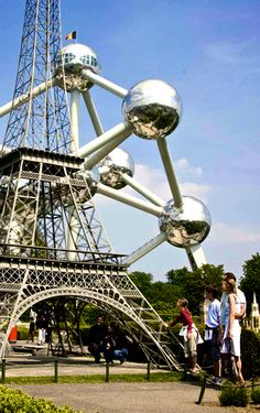Atomium in Brussels -- funky place created for the 1958 World's Fair