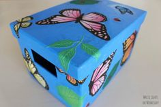 DIY Butterfly Garden storage box with @Martha Stewart #crafts decoupage - click thru for the full #diy how-to
