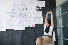 Young tired businesswoman stretching arms while sitting on chair by blackboard - Buy this stock photo and explore similar images at Adobe Stock Valentines Day Cards Diy, Blackboards, Diy Cards, Stretching, Business Women, Tired, Adobe, Arms, Stock Photos