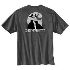 a296a47977d Carhartt Workwear Duck Hunting Pocket T-Shirt for Men - Granite Heather -  2XL Carhartt