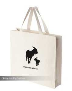 Totes Ma Goats Tote Handbag Eco-Friendly Reusable Tote grocery gift.