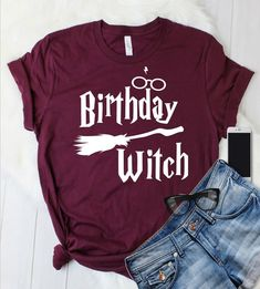 Excited to share the latest addition to my shop: Harry Potter Inspired Birthday Witch Shirt, Universal Studios Shirt, Potter Gift Tee T Shirt T-shirt Tee, Womens Tee, Wizarding World Shirt Harry Potter Shirts, Estilo Harry Potter, Cumpleaños Harry Potter, Harry Potter Outfits, Harry Potter Birthday, Harry Potter Clothing, Harry Potter Fashion, Harry Potter Kleidung, Birthday Outfit For Women