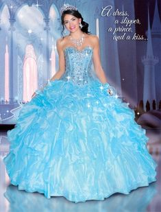 Disney Royal Ball Quinceanera Dress Cinderella Style 41046 - ABC Fashion