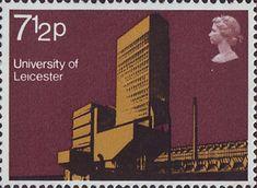 Modern University Buildings 7.5p Stamp (1971) Engineering Department, Leicester University