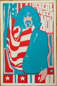 """Reveal the Truth Now, Frank Zappa poster 23"""" x 35"""" by artist Carl H. Johansen,  1967"""