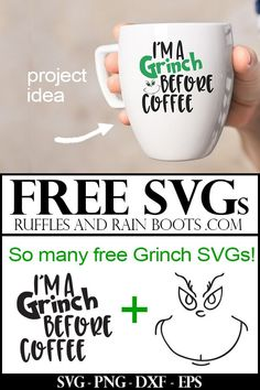 Free Grinch SVGs – Resting Grinch Face and So Many More! Free Grinch SVGs – Resting Grinch Face and So Many More!,Plotter These free Grinch SVGs are the perfect way to get anyone into. Cricut Christmas Ideas, Christmas Mugs, Christmas Projects, White Christmas, Christmas Decorations, Christmas Carol, Amazon Christmas, Christmas Sayings, Christmas Movies