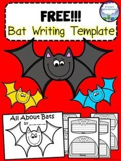 Free Bat Writing Template and mobile craft with no strings. Perfect for use with bat-themed books or research. Facts are written on each bat template and can be made in to a book, a bat mobile, or bat wall craft. Five pages are included with room for Kindergarten Writing, Writing Activities, Literacy, Teaching Writing, Writing Prompts, All About Bats, First Grade Writing, Informational Writing, Writer Workshop