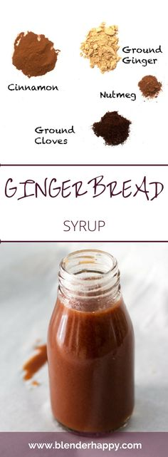 GIngerbread syrup will add a little seasonal flair to your favourite hot beverage.   via @blenderhappy