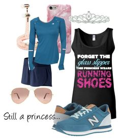 """""""Running Princess"""" by emilie-westrich-kavanagh-smith on Polyvore featuring Sony, Kate Marie, New Balance Classics, New Balance and Ray-Ban"""