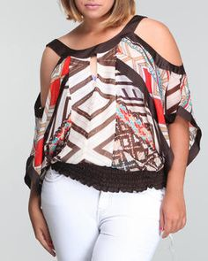 Baby Phat - COLOR BLOCK DOLMAN TOP (PLUS)