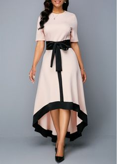 Color : Light Pink Sleeve's Length : Half Sleeve Silhouette : High Low Material : Polyester, Spandex The post Round Neck Zipper Back Belted High Low Dress appeared first on Power Day Sale. Women's Fashion Dresses, Sexy Dresses, Dresses For Sale, Dresses Online, Prom Dresses, Dress Sale, Trendy Dresses, High Low Dresses, Fashion Clothes