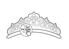 Beautiful Tiara Coloring Page For Girls Printable Free Avec
