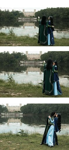 #Salazar #Slytherin and #Rowena #Ravenclaw. #Hogwarts #Romance. #Cosplay by #Founders4 team. A little romance at the lakeside...