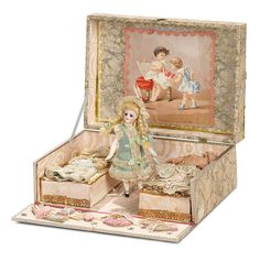 """""""I Only Wanted to Wonder"""" - August 1, 2017: 288 French All-Bisque Mignonette in Original Presentation Box with Trousseau"""