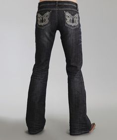 Another great find on #zulily! Black Metallic 816 Bootcut Jeans - Women & Plus by Stetson #zulilyfinds
