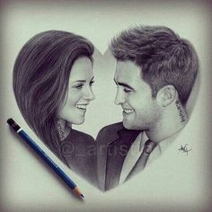 an amazing drawing not mine bit it's amazing Twilight Stars, Twilight New Moon, Twilight Movie, Twilight Edward, Edward Bella, Edward Cullen, Twilight Quotes, Twilight Pictures, The Best Films
